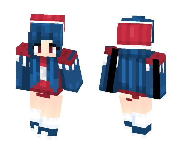 red, blue, and white ???? - Female Minecraft Skins - image 1