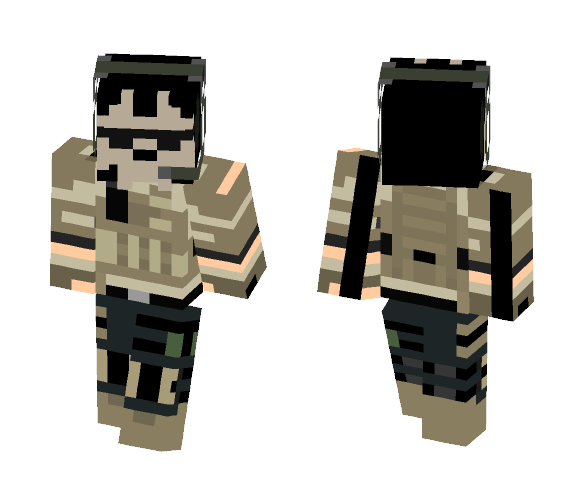 My attempt at a ghost mask - Male Minecraft Skins - image 1