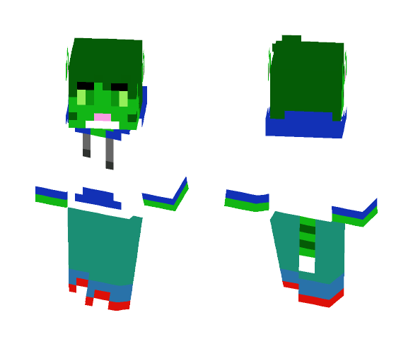 New Updated Green Cat - Male Minecraft Skins - image 1