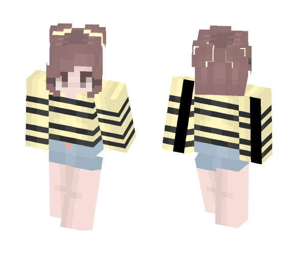 bee happy | ???? - Female Minecraft Skins - image 1