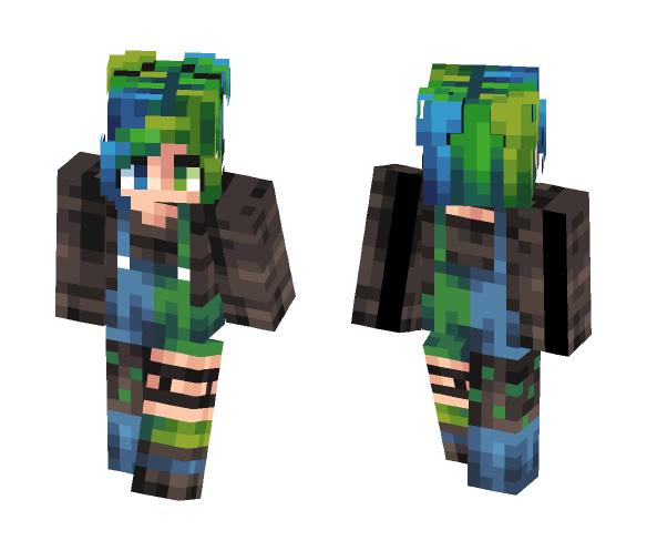 M a l a c h i t e - Female Minecraft Skins - image 1
