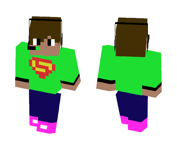 Gaming Dude (Neon Green Shirt) - Male Minecraft Skins - image 1