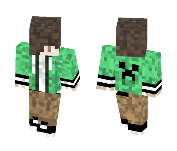 Creeper Boy (Steve) - Male Minecraft Skins - image 1