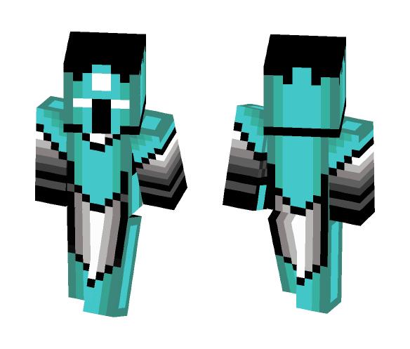 Cyan Knight - Male Minecraft Skins - image 1