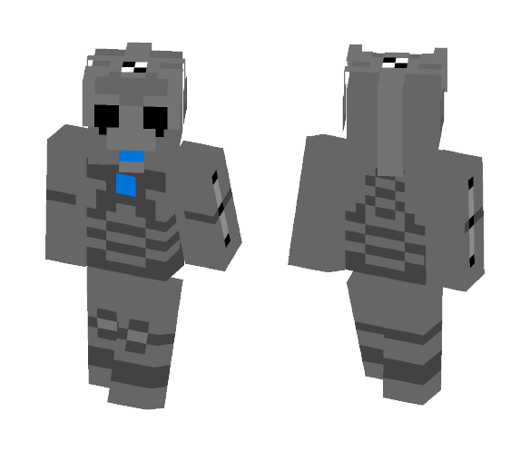 Upgraded Cyberman - Male Minecraft Skins - image 1