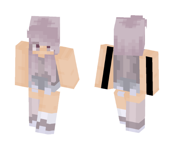 Violet BubbleGum - Female Minecraft Skins - image 1