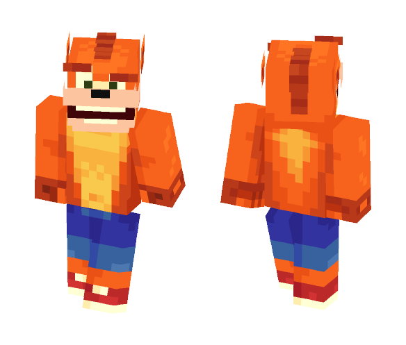 Crash Bandicoot - Male Minecraft Skins - image 1