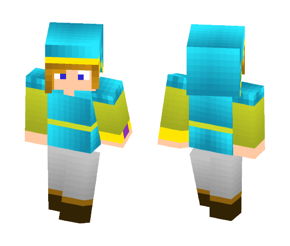LInk from albw (blue suit) - Male Minecraft Skins - image 1