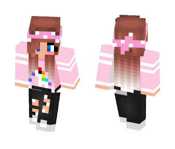 Download Cute Girl With A Unicorn Minecraft Skin For Free