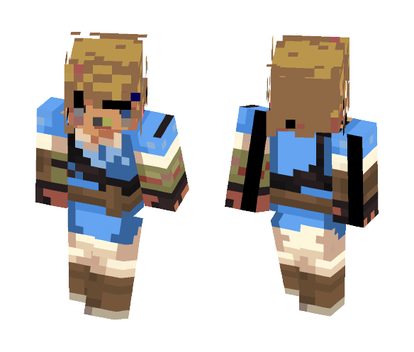 Download Legend Of Zelda Botw Link Minecraft Skin For Free