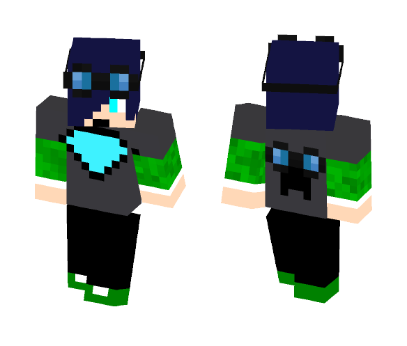 DanTDM fan T -shirt and goggles - Interchangeable Minecraft Skins - image 1
