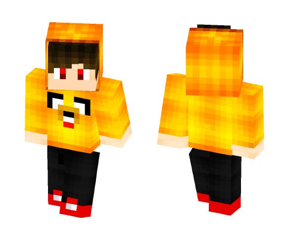 Download Boy in Orange/Yellow hoodie Minecraft Skin for Free