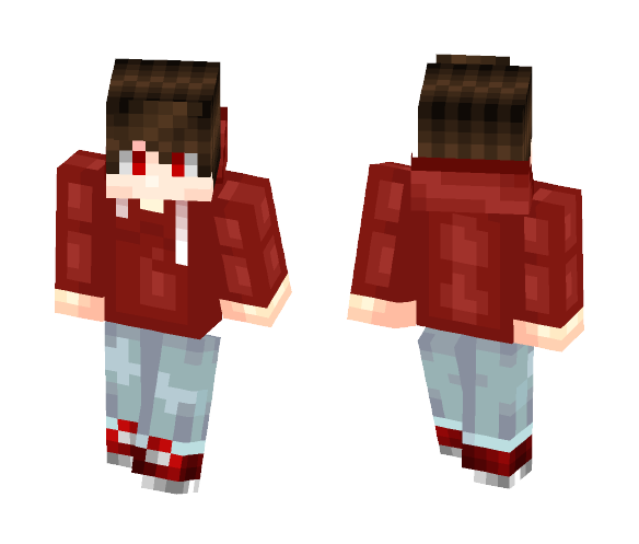 Download Boy in Hoodie (Red) Minecraft Skin for Free