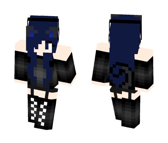Blue Neko Girl - Girl Minecraft Skins - image 1
