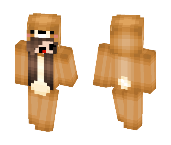 Download Teddy Bear Onesie Girl D3rp Minecraft Skin For Free