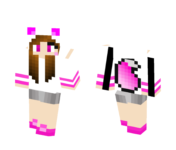 Download Pink Wolf Girl Minecraft Skin For Free
