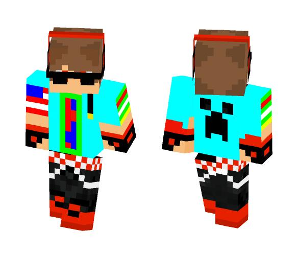 blue sweat shirt - Male Minecraft Skins - image 1