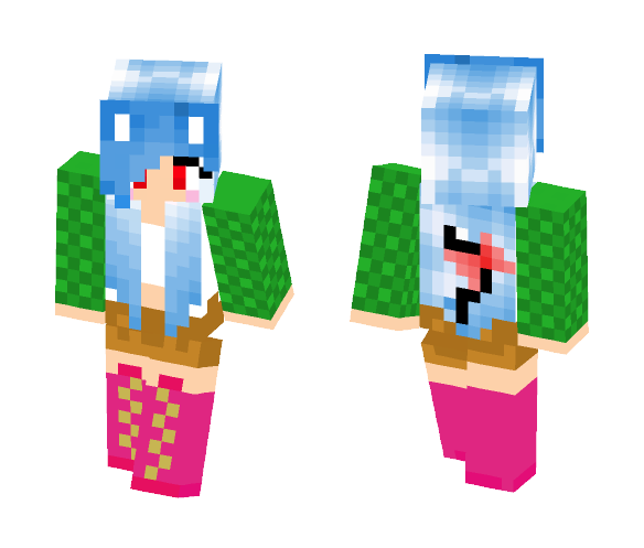 Blue Haired Meif'wa - Female Minecraft Skins - image 1