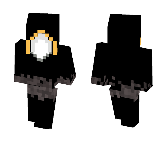 майнкрафт скин чёрного ангела #3