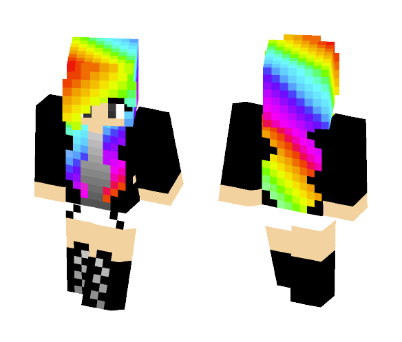 Download Rainbow Girl Minecraft Skin For Free