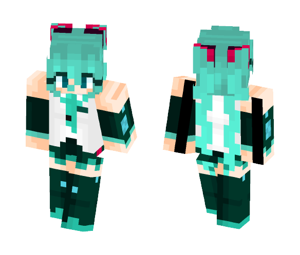 Download [VOCALOID V4X] Hatsune Miku Minecraft Skin for Free
