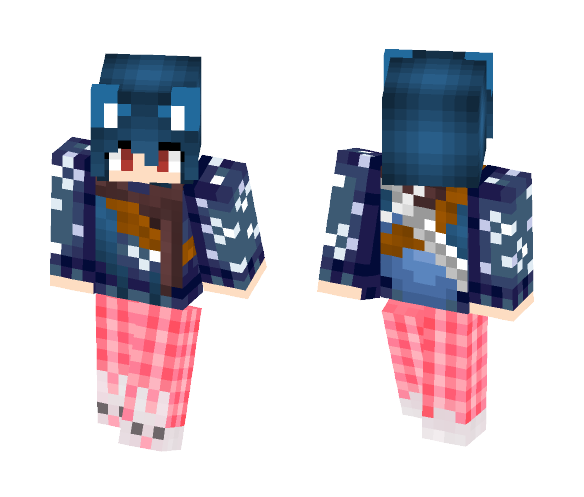 Diana The Killer Wolf Girl - Girl Minecraft Skins - image 1