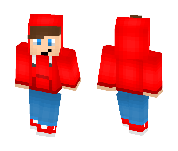 Download Boy with Red hoodie Minecraft Skin for Free