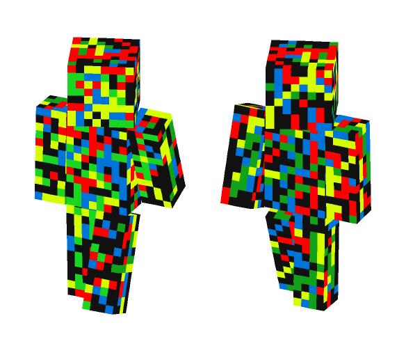 Rainbow Spray Painted Skin - Interchangeable Minecraft Skins - image 1