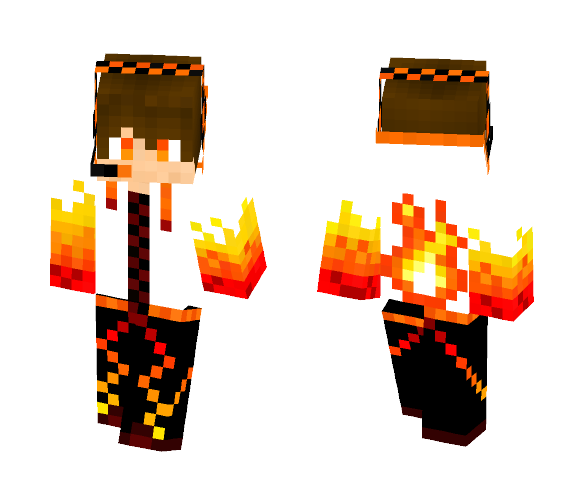 Download Hulla100 Skin Request Fire Boy Minecraft Skin For Free Superminecraftskins