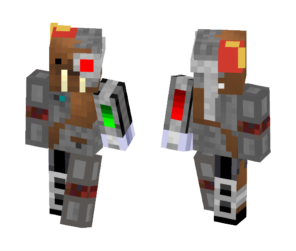 Download Battle Walrus With A Fez Minecraft Skin For Free