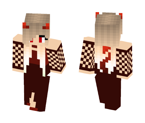 9773fa344539d Download Devil girl in dress Minecraft Skin for Free ...