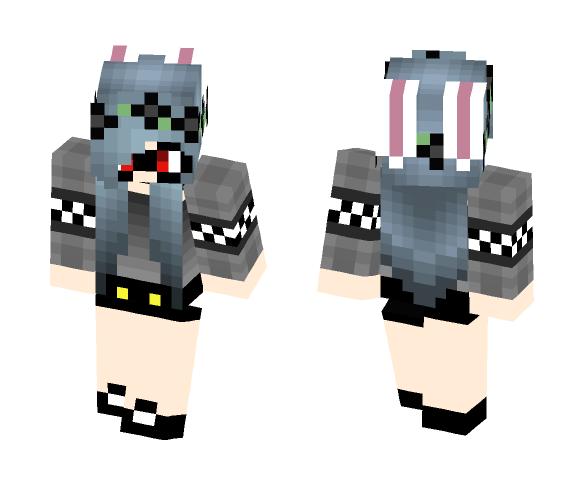 Goth Bunny - Female Minecraft Skins - image 1