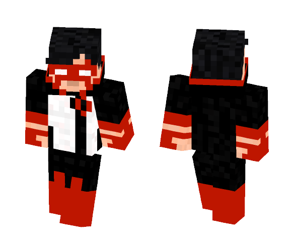 red lantern (kyle rayner fan skin) - Male Minecraft Skins - image 1