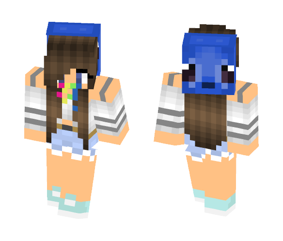 Download Rainbow Stitch Girl Minecraft Skin For Free