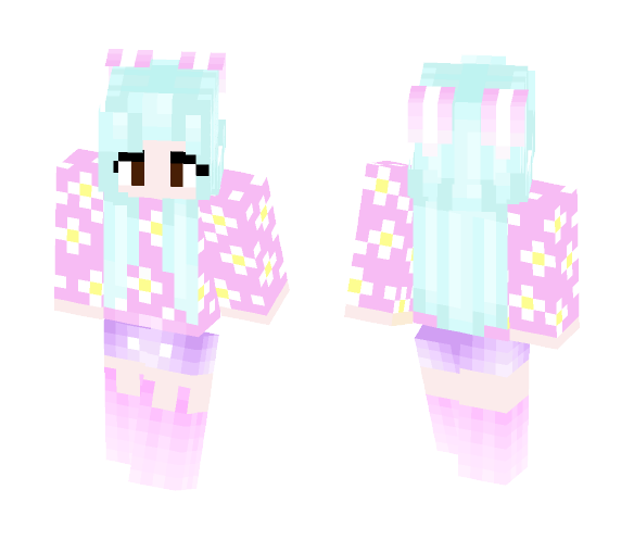 download kawaii bunny girl w minecraft skin for free