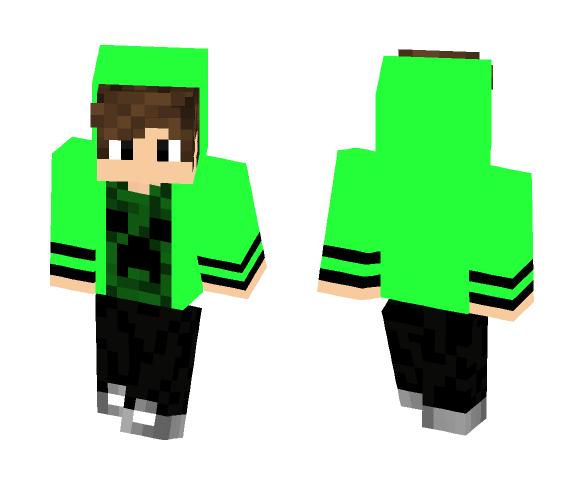 Download Boy With Green Hoodie Minecraft Skin For Free Superminecraftskins