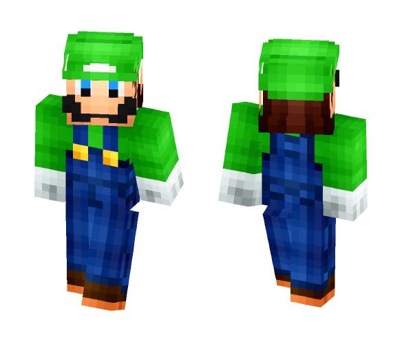 Luigi HD and 3D - Male Minecraft Skins - image 1