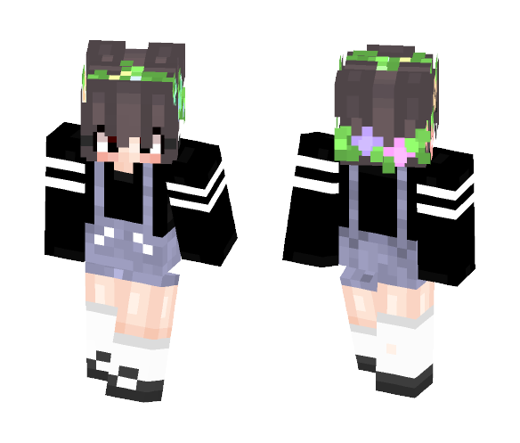 Download A little overall girl Minecraft Skin for Free