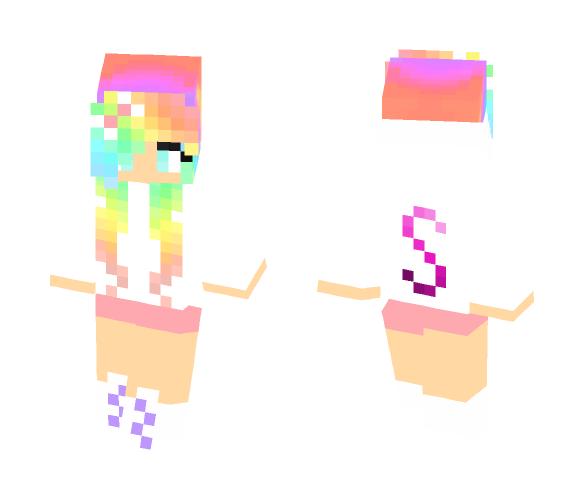 Download Skittle Rainbow Girl 4 Minecraft Skin For Free