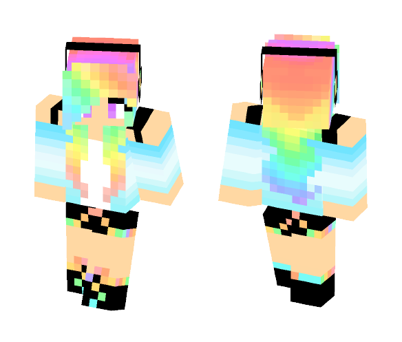 Download Cute Rainbow Girl 3 Minecraft Skin For Free