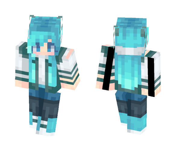 Icy Horns - Female Minecraft Skins - image 1
