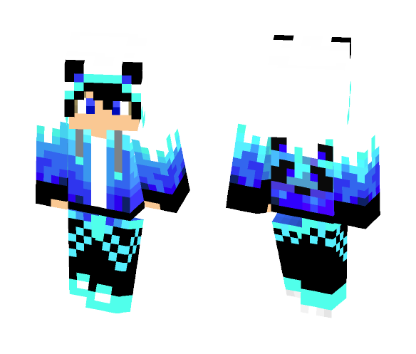 Download Ice Panda Boy Minecraft Skin For Free