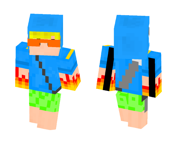 23 Green Pigs (battle version) - Male Minecraft Skins - image 1