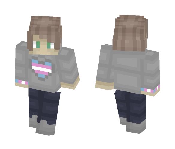 ❤ Trans pride ❤ Male ver - Male Minecraft Skins - image 1