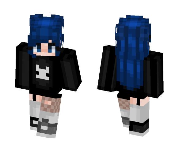 Download Blue Hair Minecraft Skin For Free Superminecraftskins