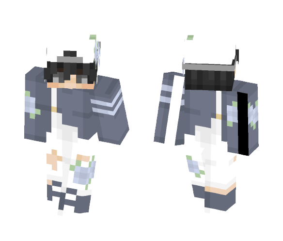 Some Blue Flowers And Overalls - Male Minecraft Skins - image 1