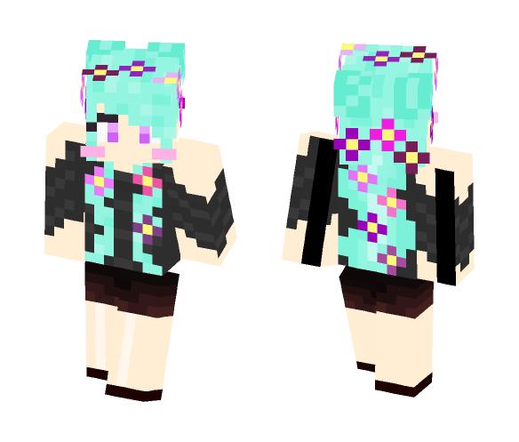 Gothic Flower Girl - Female Minecraft Skins - image 1