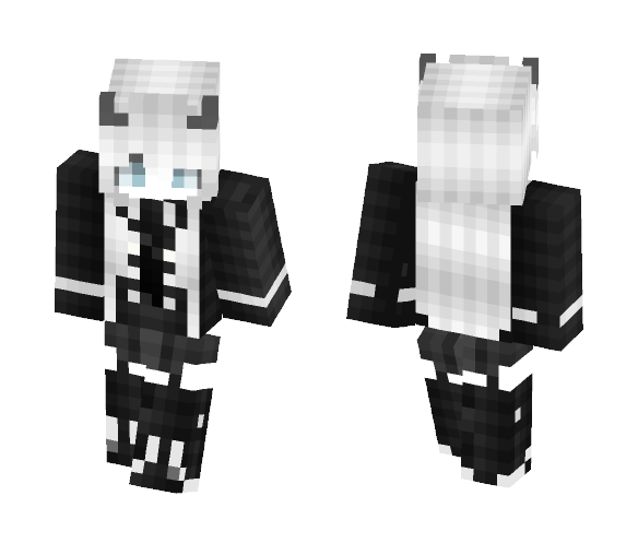 d8f0d7ad7e97c ~Demon Girl - White Hair~ - Color Haired Girls Minecraft Skins - image 1