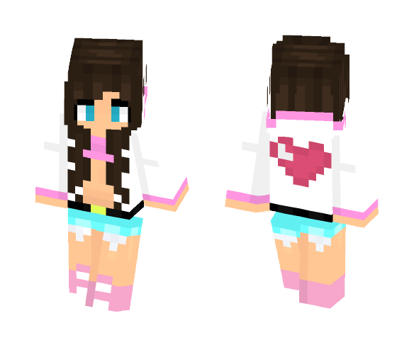 minecraft girl skins with hoodie