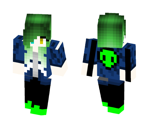 Download Alien Fangirl Green Hair Aleks Minecraft Skin For Free